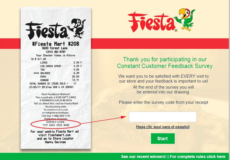 Fiesta Survey