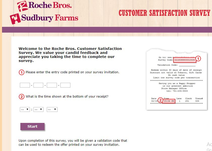 Roche Bros. Survey