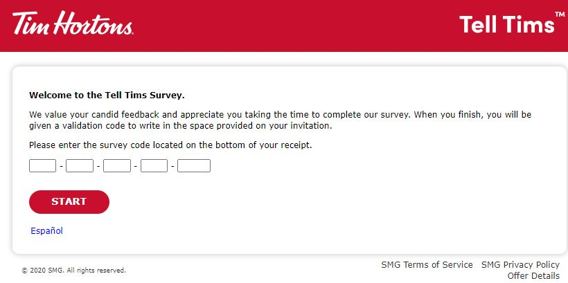 Tell Tims Survey
